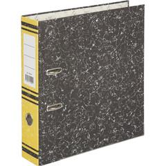 Папка-регистратор Attache 75 мм мрамор/желтый корешок