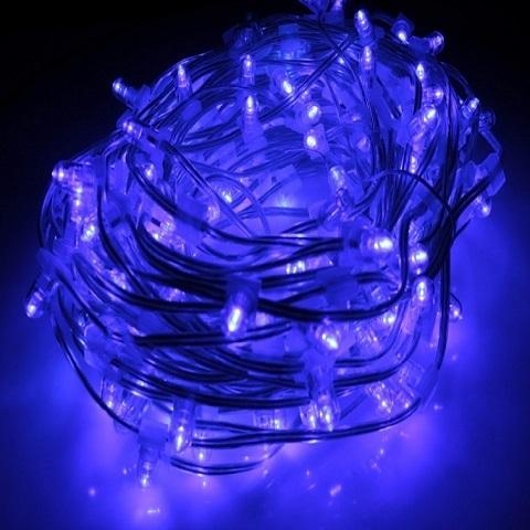 Клип лайт Синий Мерцающий, комплект с трансформатором, 30 метров