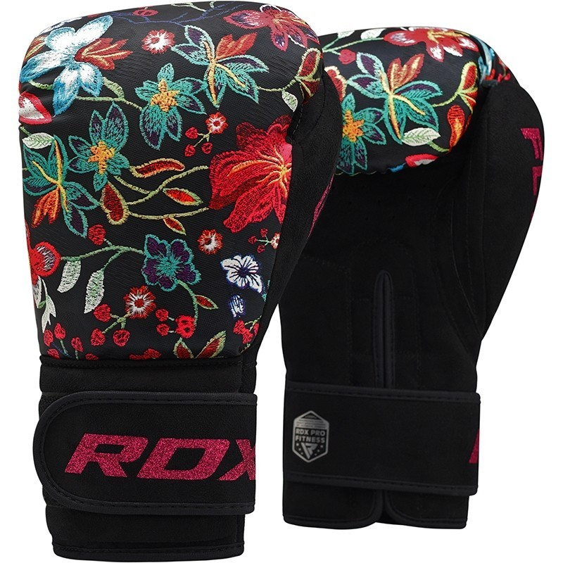 Перчатки Перчатки женские для бокса RDX Boxing Gloves FL-3 Floral Black 1.jpg