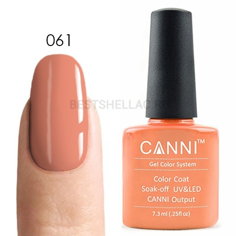 Canni Canni, Гель-лак № 061, 7,3 мл 061.jpg