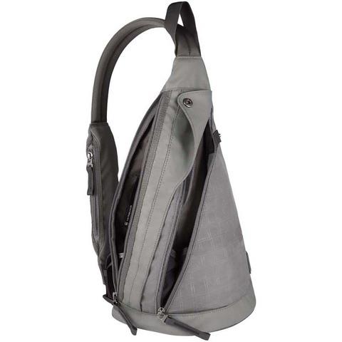 Рюкзак Victorinox Monosling, с одним плечевым ремнём, серый, 23x14x41 см, 13 л