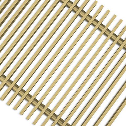 Решетка поперечная алюминиевая Techno шириной 200 мм, длина 1800 мм (цвет золото)