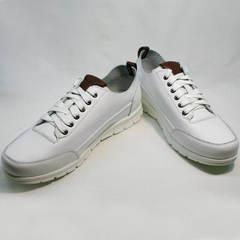 Белые кроссовки натуральная кожа Faber 193909-3 White.