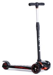 Трехколесный самокат для детей и подростков, материал - металл/пластик BIBITU  STRONG SKL-010, черный