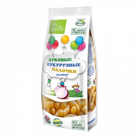 «Ешь здорово»Кукурузные палочки луковые соленые, 80г