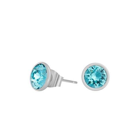 Пусеты Light Turquoise SWE297 LTU S