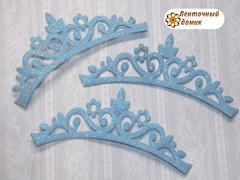 Заготовка Корона цветочная перфорация голубая