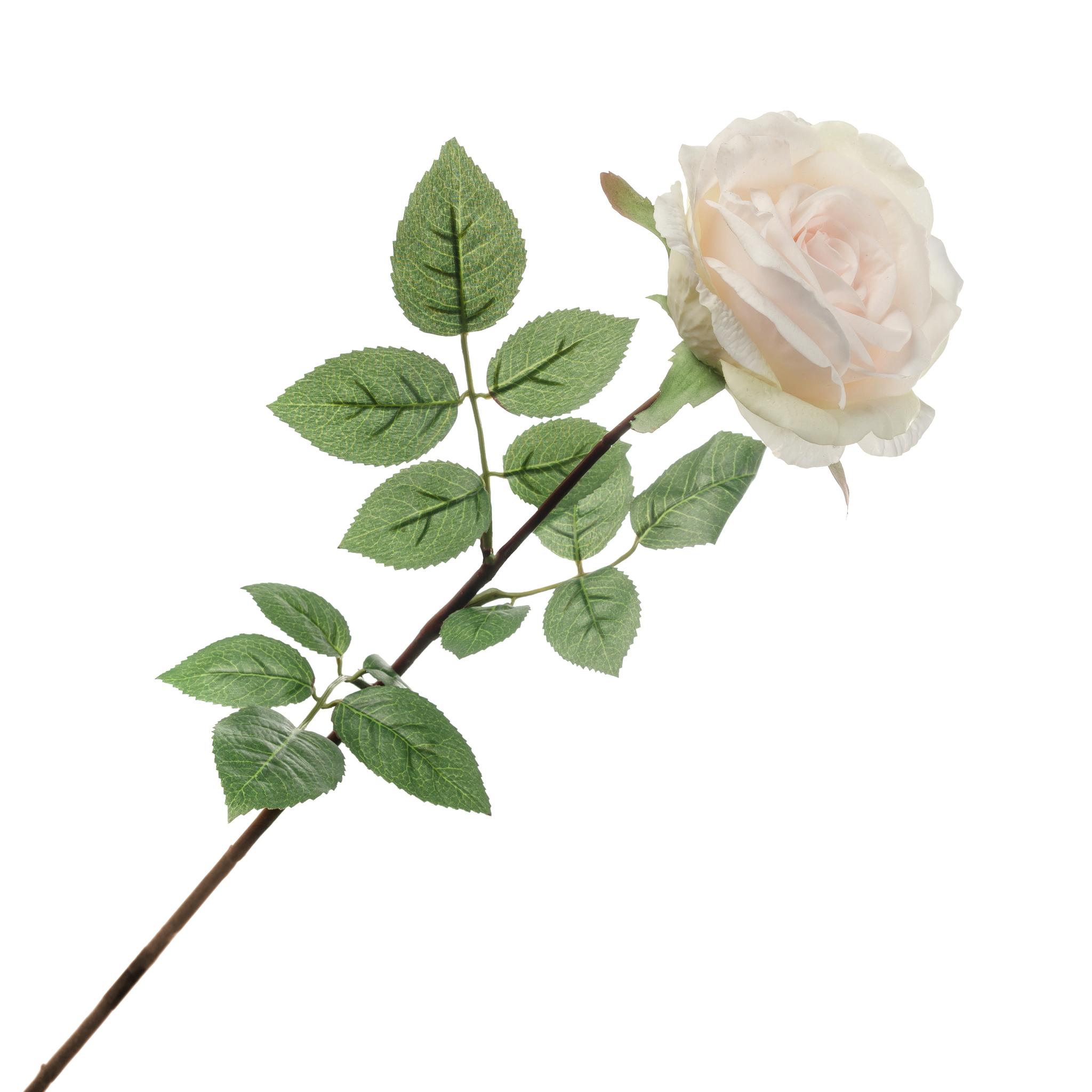 Роза персиковая с силиконовым покрытием 81 см