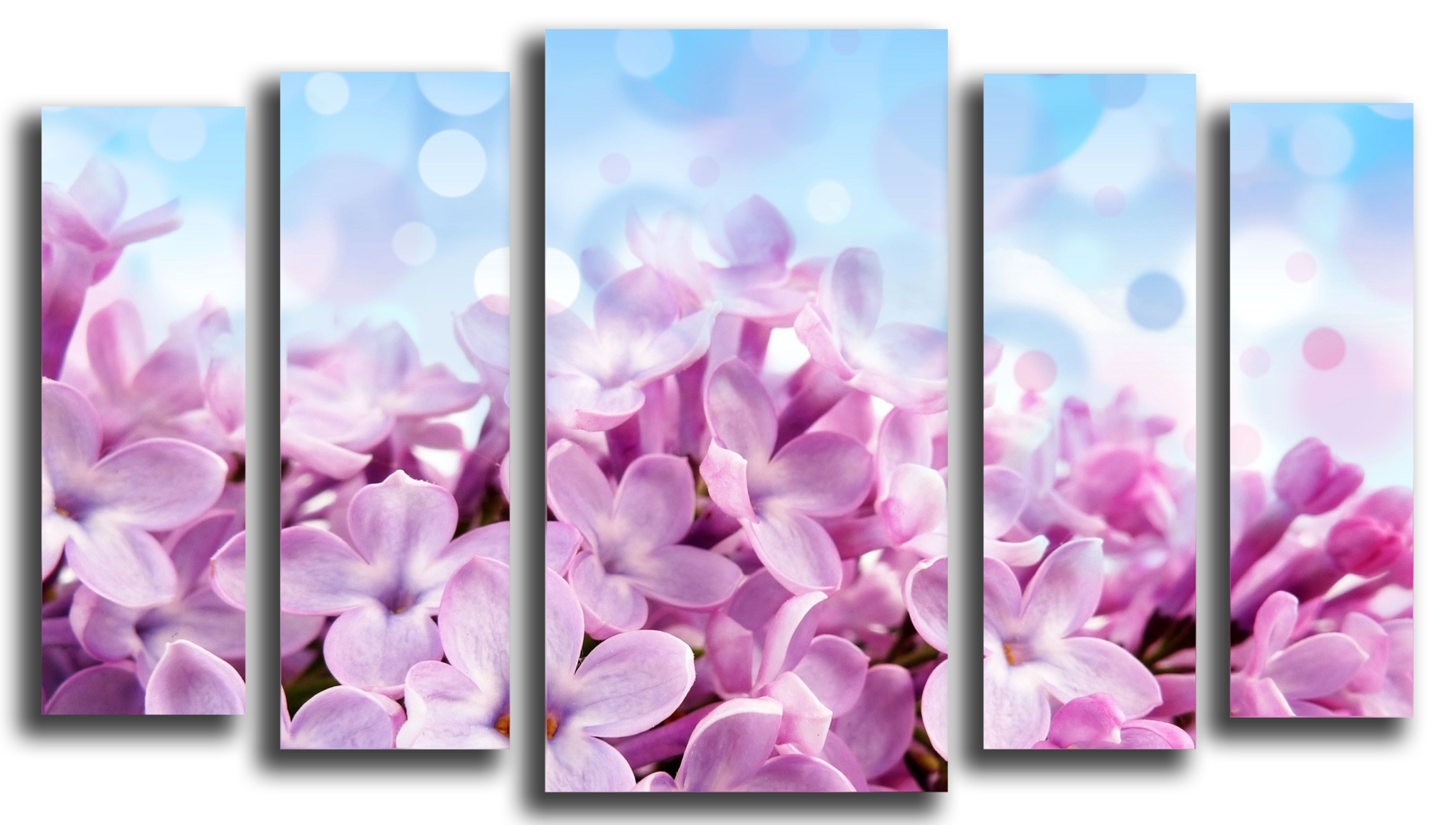 """Цветы Модульная картина """"Лиловая сирень"""" М1025_M_загибы_90х56.png"""