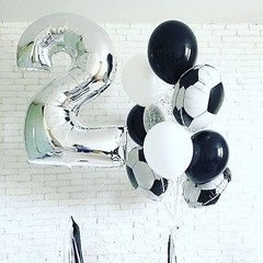 Воздушный шар (40''/102 см) Цифра, 2, Серебро, 1 шт.