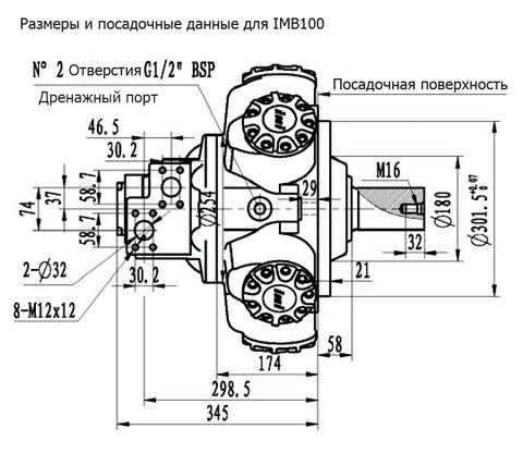 Гидромотор IMB 100-1400