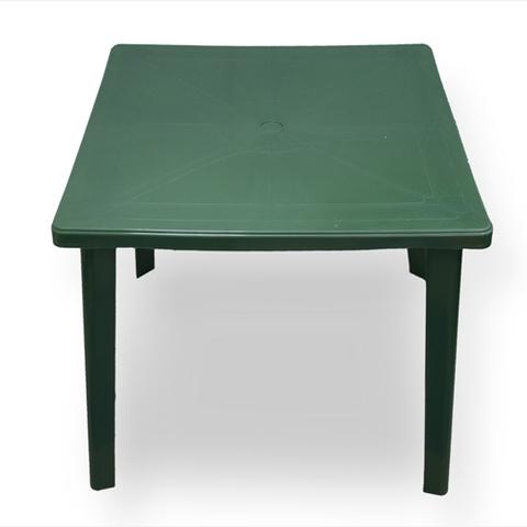 Пластиковый квадратный стол болотный