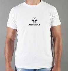 Футболка с принтом Рено (Renault) белая 007