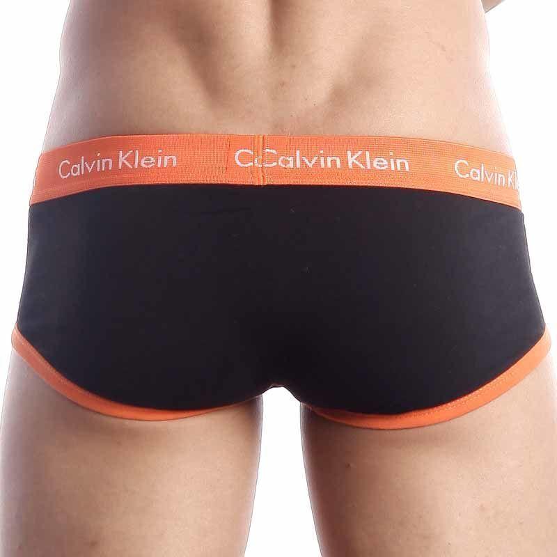 Мужские трусы брифы Calvin Klein 365 Black Orange Brief