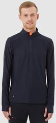 Элитная беговая рубашка Gri Лонг мужская темно-синяя