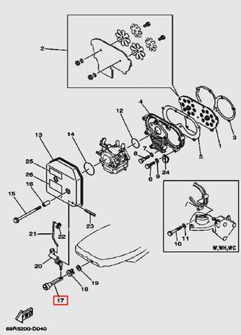 Ручка дроссельной заслонки для лодочного мотора Т30 Sea-PRO (4-17)