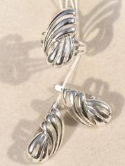 Хала (кольцо + серьги из серебра)