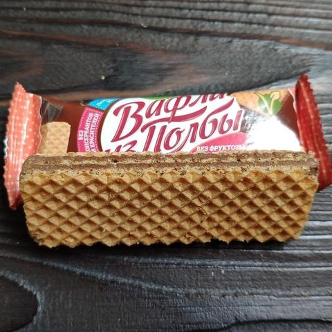 Фотография Вафли из полбы Шоколад без сахара, 15 г купить в магазине Афлора
