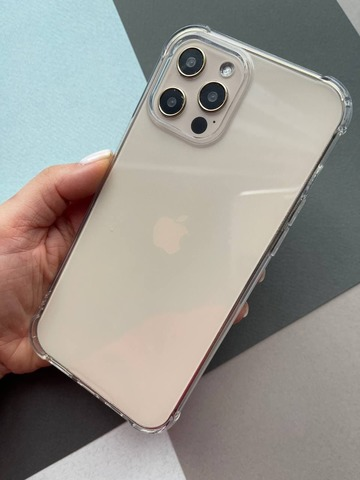 Чехол iPhone 12 Pro Max /6,7''/ Simple angle silicone /transparent/ 443
