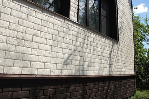 Фасадные панели GRAND LINE Колотый камень Стандарт бежевая