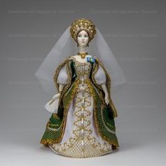 Сувенирная кукла в костюме статс-дамы конца 19 века