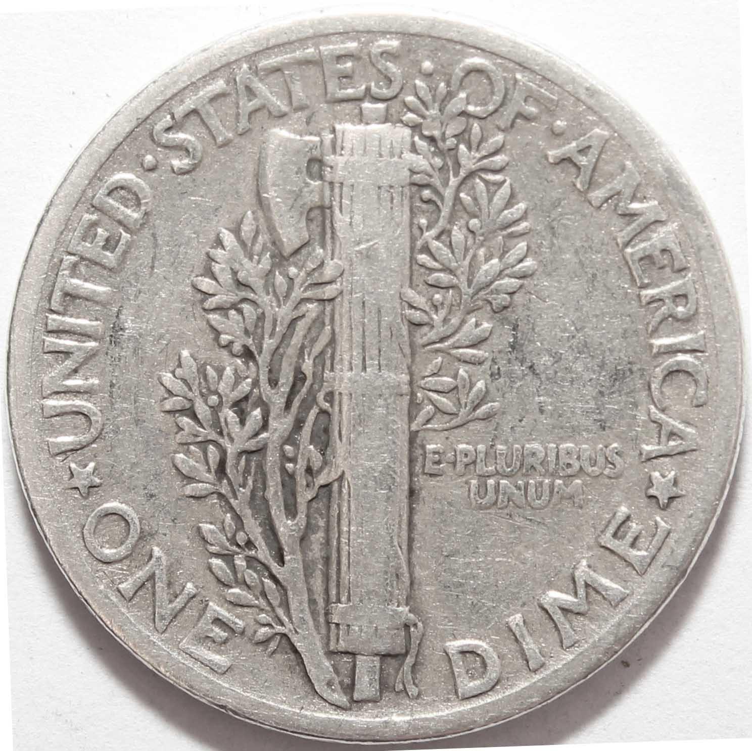 1 дайм (10 центов) 1942. США VF (Меркурий) Серебро