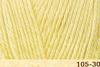 Пряжа Fibranatura Luxor 105-30 (Бледный лимон)