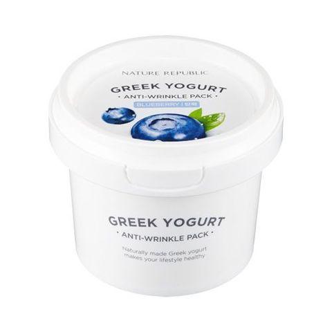 Nature Republic Greek Yogurt Anti-Wrinkle Pack Blueberry маска йогуртовая ночная с экстрактом черники для разглаживания морщин