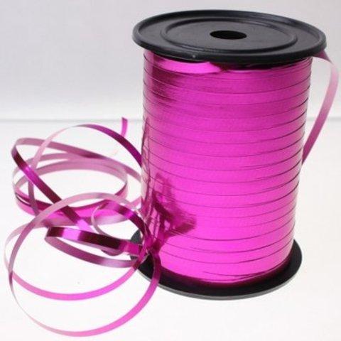 Лента металлизир 5ммХ250м розовая #2