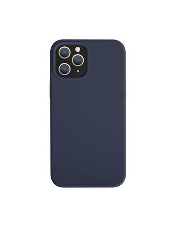 Чехол Uniq LINO для iPhone 12/12 Pro | PU антимикробное покрытие синий микрофибра
