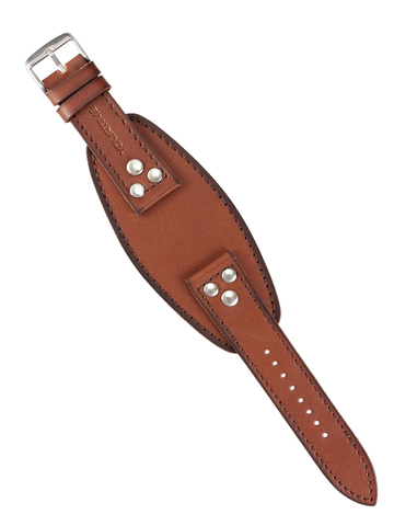 Ремешок на часы широкий, натуральная кожа