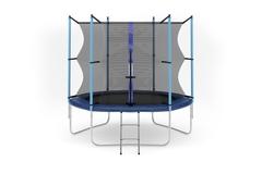 Батут с внутренней сеткой и лестницей, диаметр 8ft (244 см)