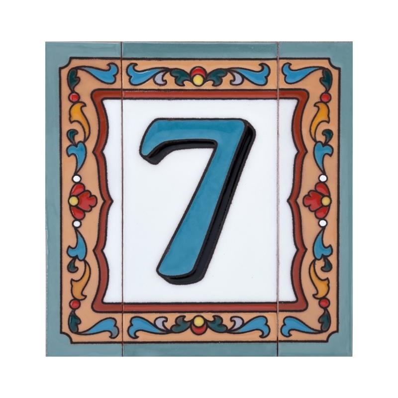 Пример размещения керамической номерной таблички