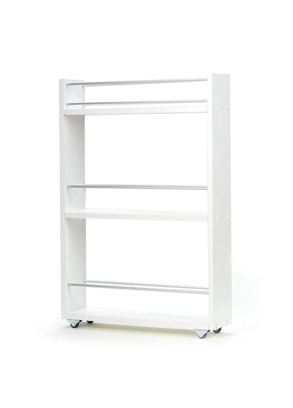Полка выдвижная, для кухни и ванной комнаты 76х52х12 см, 3-х этажная,белый