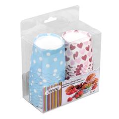 Формы для выпечки кексов «Люкс» бумажные 50х45 мм, 24 штуки