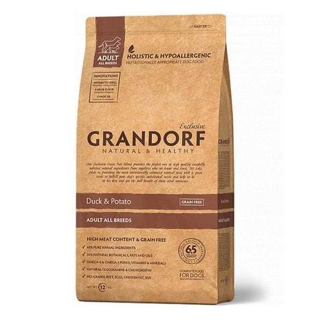 12 кг. GRANDORF Сухой беззерновой корм для взрослых собак с уткой и картофелем Duck&Potato All Breeds