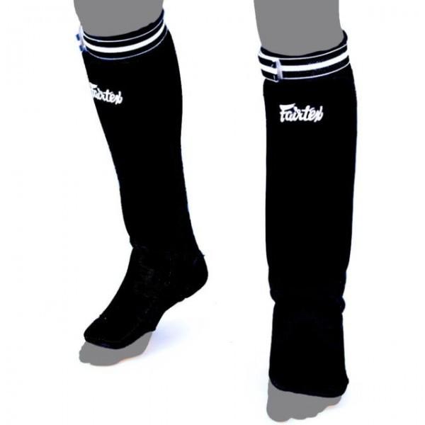 Защита ног Щитки Fairtex Fabric Shin Pads SPE1 Black 1.jpg
