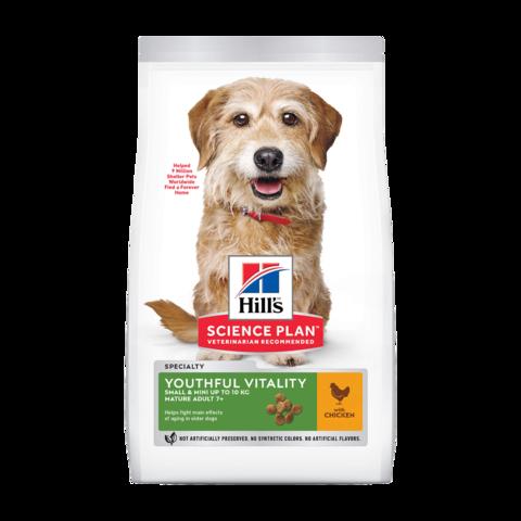 Hill's Science Plan Youthful Vitality Small & Mini 7+ Сухой корм для пожилых собак мелких пород для поддержания здоровья в период старения с курицей и рисом