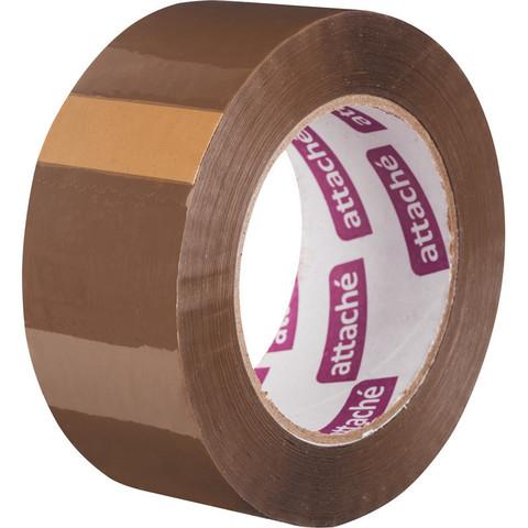 Скотч клейкая лента упаковочная Attache коричневая 48 мм x 132 м толщина 45 мкм