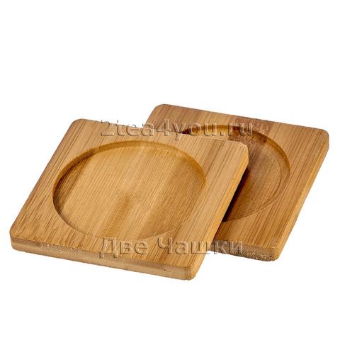 Подставка бамбуковая для стаканов, чашек, кружек и пиал