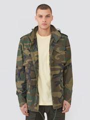 Куртка Alpha Industries M-65 Woodland Camo (Камуфляжный)