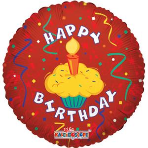 Фольгированный шар С Днем Рождения Праздничный торт 18