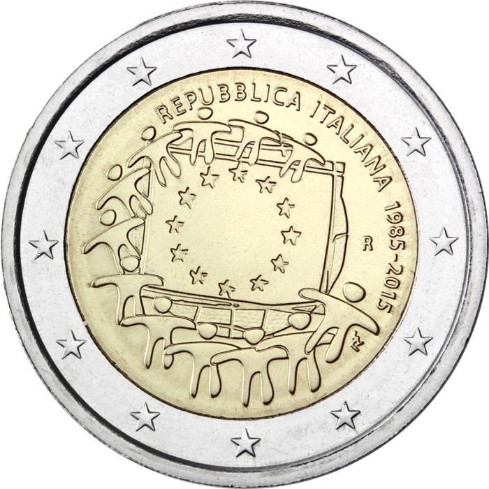 2 евро 2015 Италия - 30 лет флагу Евро Союза