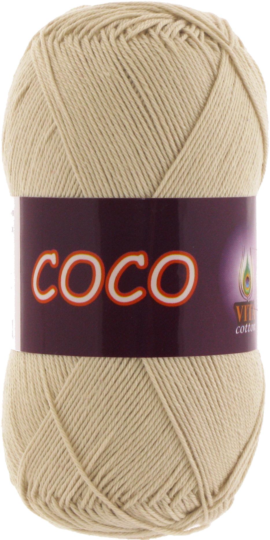 Пряжа Vita Coco 3889 бежевый