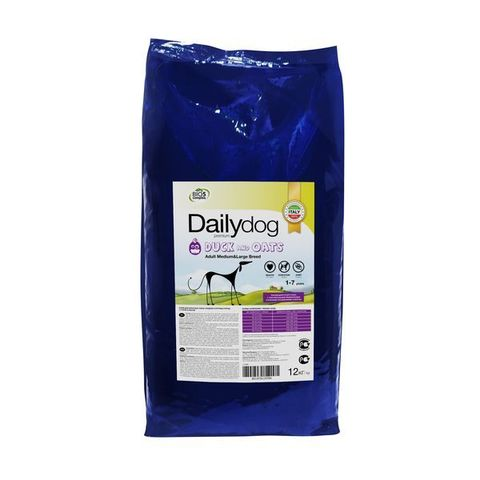 DailyDog Adult Medium & Large Breed Duck & Oats сухой корм для взрослых собак средних и крупных пород с уткой и овсом 20 кг