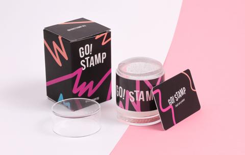 Штамп двойной и мини-скрапер GO STAMP
