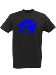 Футболка с однотонным принтом НХЛ Коламбус Блю Джекетс (NHL Columbus Blue Jackets) черная 006