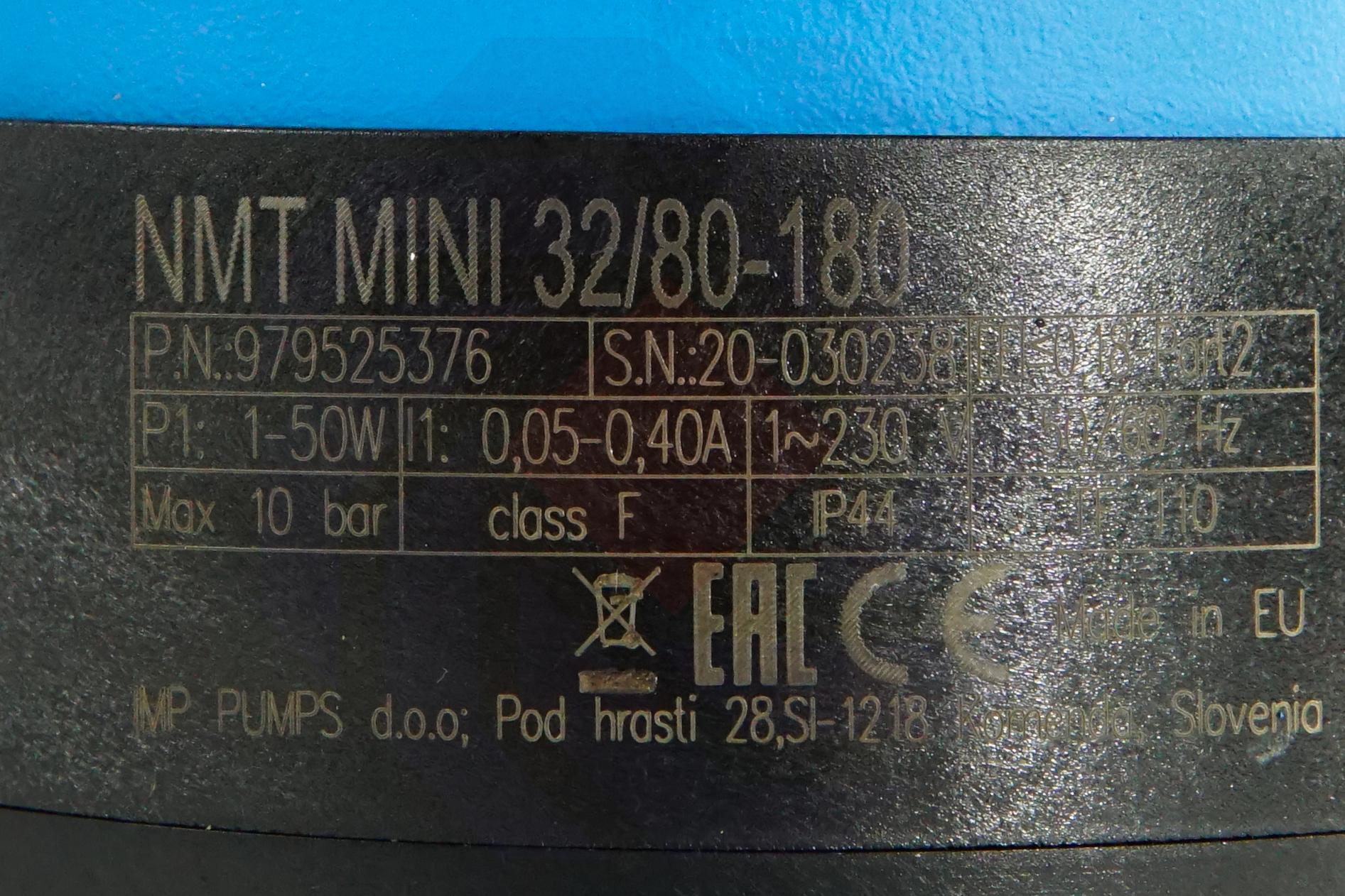 Насос циркуляционный IMP NMT MINI 32/80-180