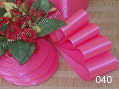 Лента атласная однотонная розовая - 040