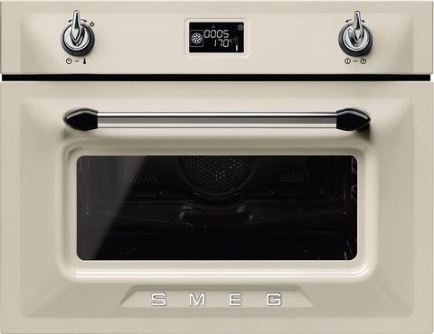 Компактный духовой шкаф Smeg SF4920MCP1 с СВЧ